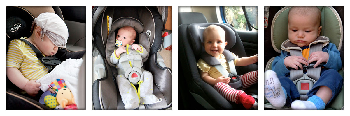 babies-on-the-carseat-collage